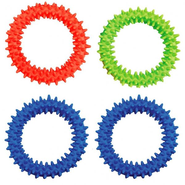 Green Soft Flexible Ring and Rubber Spikes  Sensory Toy (1) (2)